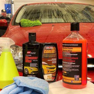 Henkilöauton käsinpesu ja vahaus (900232)